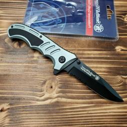 Smith & Wesson Extreme Ops Aluminum Handle Combo Edge Foldin