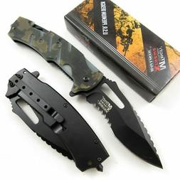 SPRING ASSIST FOLDING KNIFE Mtech Tactical Rescue Hook Digit