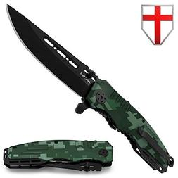 Spring Assisted Knife - Pocket Folding Knife - Military Styl