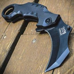 "8"" Spring Assisted Open Folding Pocket Knife Karambit Claw C"