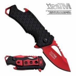 SPRING-ASSIST FOLDING POCKET KNIFE | Mtech Red Blade Black T