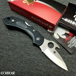 Spyderco C28PGYW2 Dragonfly 2 Emerson Opener Plain Edge Fold