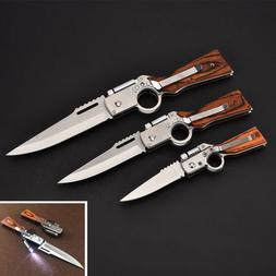 Stainless Steel Folding Blade Pocket Knives Camping Survial