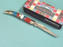 Rough Rider Stoneworx Small Fold Knife, SS long clip blade