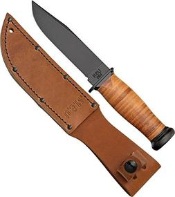 Ka-Bar Straight Leather Handled Mark 1 Knife