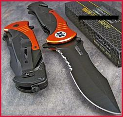 "Tac Force Extra LARGE 10.5"" ORANGE Emt Folder Blade Tactical"