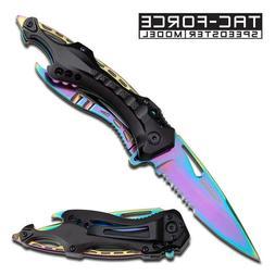 TAC FORCE Knife Pocket Folding Tactical Spring Assisted Skel