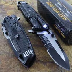 Tac-Force Speedster EMT EMS Folding Pocket Rescue Knife Serr
