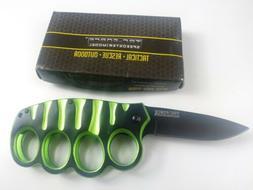 """Tac-Force Speedster Model """"GREEN"""" Knife TF-511GN"""