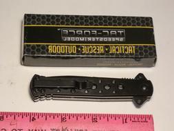 TAC-FORCE SPEEDSTER MODEL TF-698BK FOLDING STILETTO KNIFE