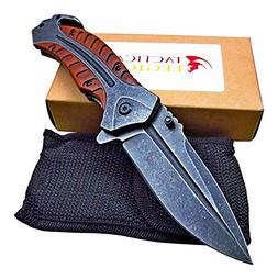 Large Heavy Duty Folding Pocket Knife - Razor Sharp Blade -