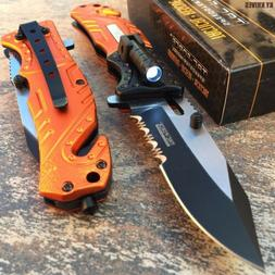 tacforce spring assisted opening rescue folding knife