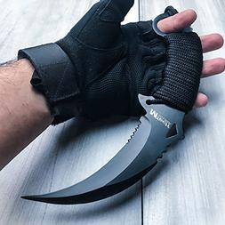 "10"" TACTICAL COMBAT KARAMBIT KNIFE BestSeller989 Survival Hu"