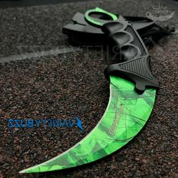 TACTICAL COMBAT KARAMBIT NECK KNIFE Survival Hunting Fixed B