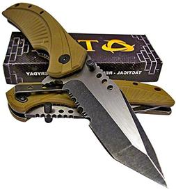 TEK Tactical Edge Spring Assisted Opening Folding Pocket Kni