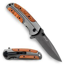 Tactical Folding Knife 3.5 Inches Blade with Titanium Coatin
