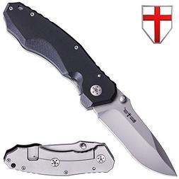 Tactical Folding Pocket Knife - Best Survival Hunting EDC Mi