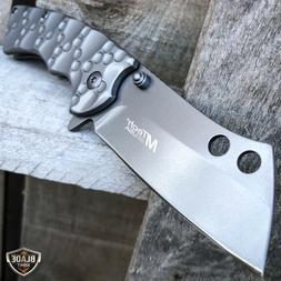 TACTICAL Spring Open Assisted Pocket Knife CLEAVER RAZOR FOL