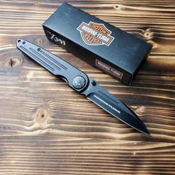 Case XX Tec X Harley Davidson Black Stonewash Plain Edge Fol