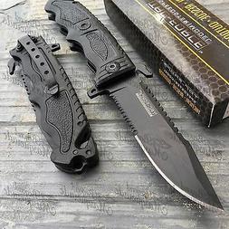 TAC Force TF-711BK Assisted Opening Folding Knife, Black Hal
