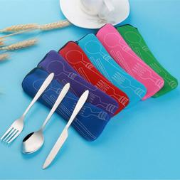 travel accessories Cutlery Spoon  Portable Bag Stainless Ste