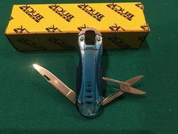 BUCK USA Folding Pocket Knife W Scissors 421 Newt Purple NIB