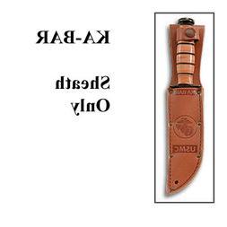 """KA-BAR 1217S, Leather Sheath, USMC Logo, Fits Knife with 7"""""""