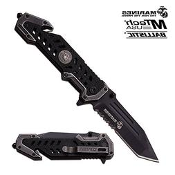 USMC Marine Tactical Folding Pocket Knife G10 Handle Sharp T