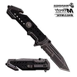 USMC Marine Tactical Folding Pocket Knife G10 Handle Sharp T