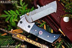 """SALE DKC-27-X WIZARD 7"""" Long, 4"""" Folded 6oz Damascus Tanto F"""