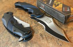 MTECH XTREME BALLISTIC BLUE Spring Assisted Opening Flipper