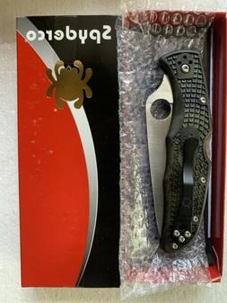 Spyderco Zome Green Endura 4 Flat Ground Plain Edge Knife -
